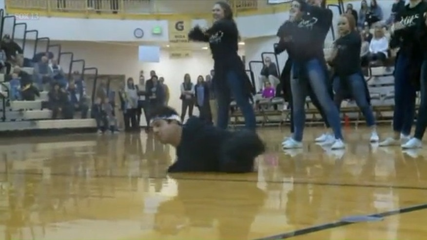 Gabe Adams dancing with the Davis High School dance team. (Fox13)