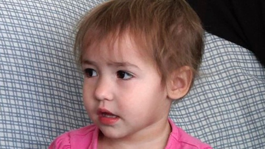 This Friday, Feb. 5, 2016 image from video shows 2-year-old Sophia Waid, daughter of Luke Waid, of Flint, Mich. A federal lawsuit filed Monday, Feb. 8, 2016, seeks unspecified damages from Michigan Gov. Rick Snyder, the state of Michigan and city of Flint claiming Sophia has been sickened by the citys water. (AP Photo/Mike Householder)