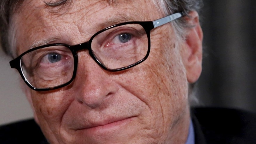 Microsoft co-founder Bill Gates listens to a question during an interview in New York
