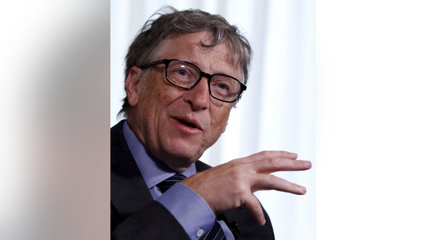 Microsoft Corp co-founder Bill Gates speaks during an interview in New York