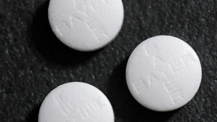 This photo shows aspirin tablets.