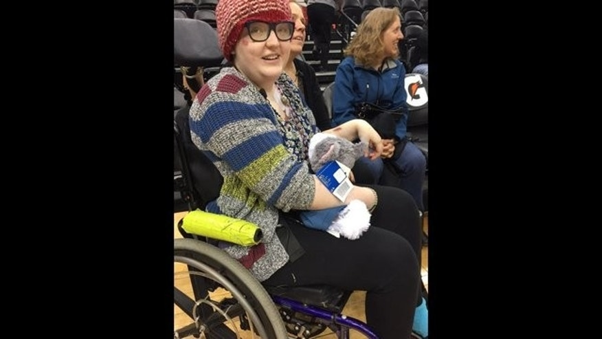 Hannah Kiresuk, 19, was given a new companion by the Minnesota Timberwolves after she lost hers.