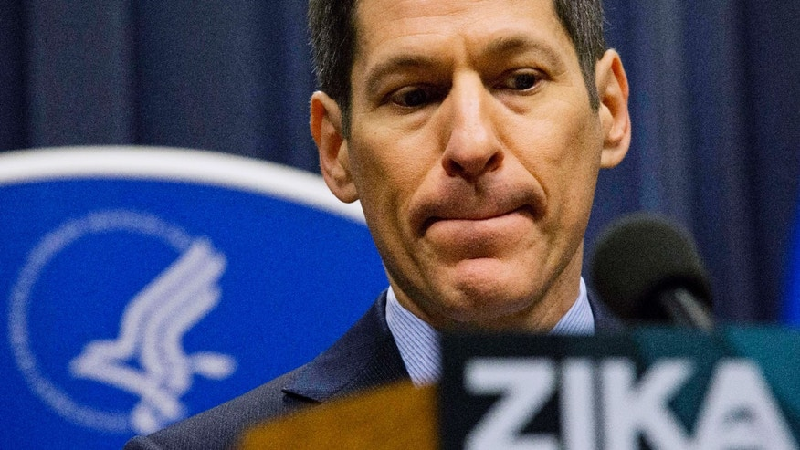 Centers for Disease Control and Prevention Director Dr. Thomas Frieden speaks during a press conference at a one-day Zika summit Friday, April 1, 2016, in Atlanta.
