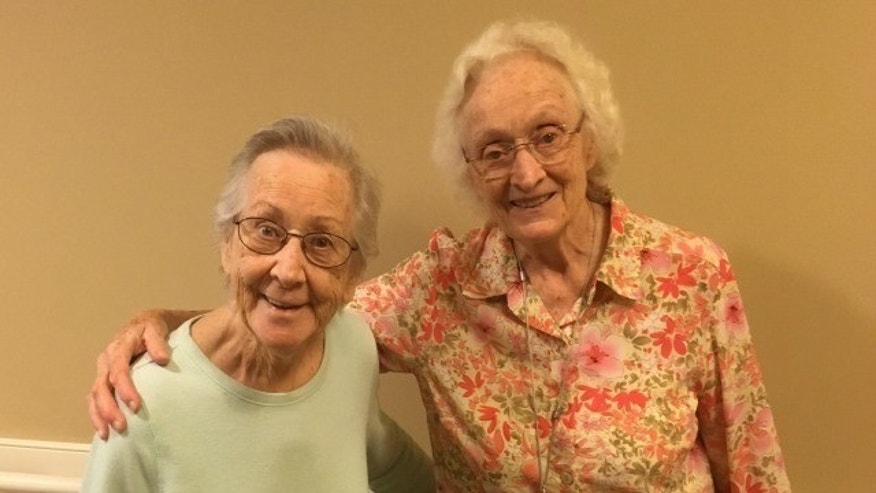 Friends Mary Thompson and Eleanor Fredriksen