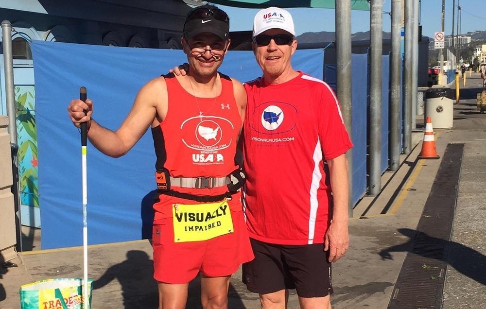 Blind Runner Aiming To Be First To Run Across Us Fox News