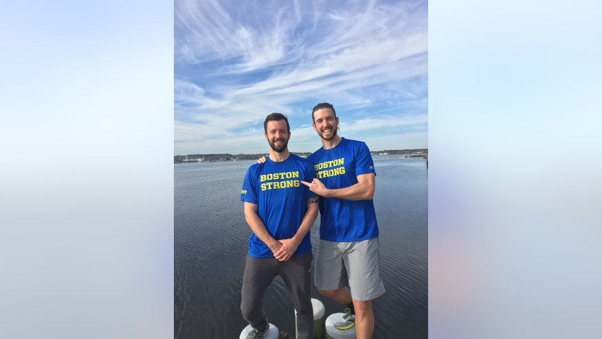 Lucas (left) and Kyle (right) Bullerjahn are running the Boston Marathon Monday in honor of their mother, Deborah, who ran 20 marathons in her lifetime and lost her battle with appendicial cancer in 2010.