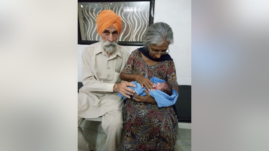 Mohinder Singh Gill and Daljinder Kaur with their newborn son.