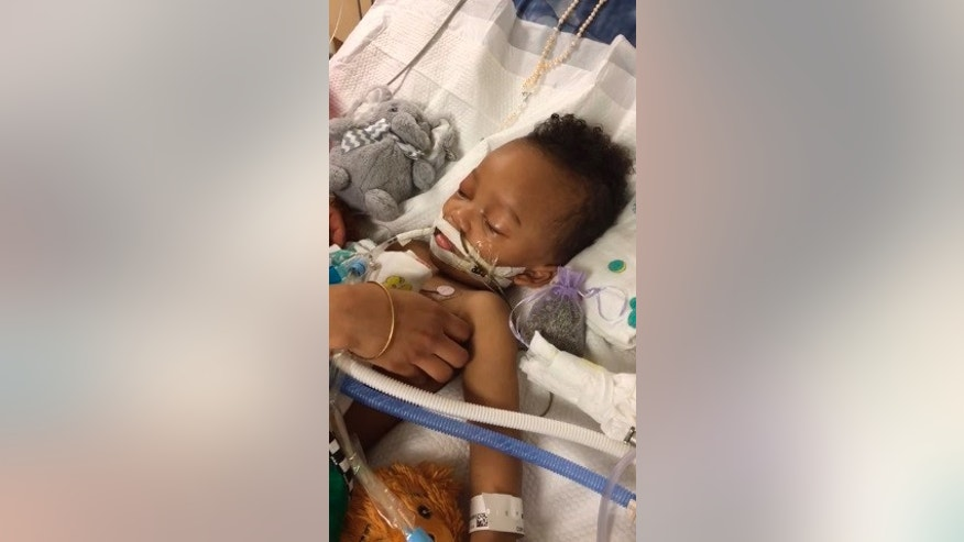 Israel Stinson, 2, was declared brain dead after suffering an asthma attack.