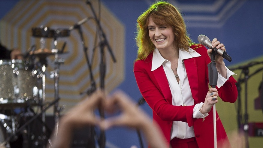 "Singer Florence Welch of Florence + the Machine performs on ABC TV's ""Good Morning America"" in Central Park in the Manhattan borough of New York June 5, 2015."