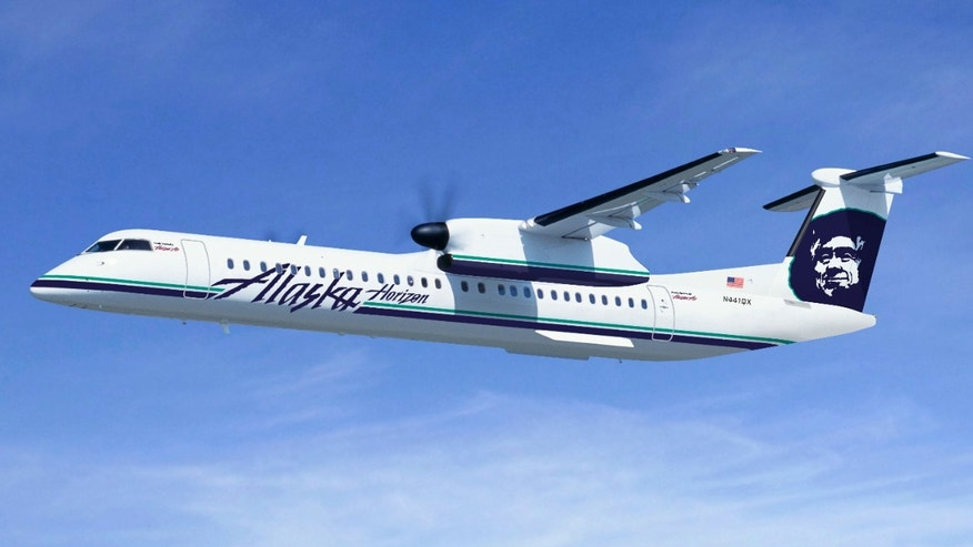 Alaska's regional aircraft operated by Horizon (Q400)