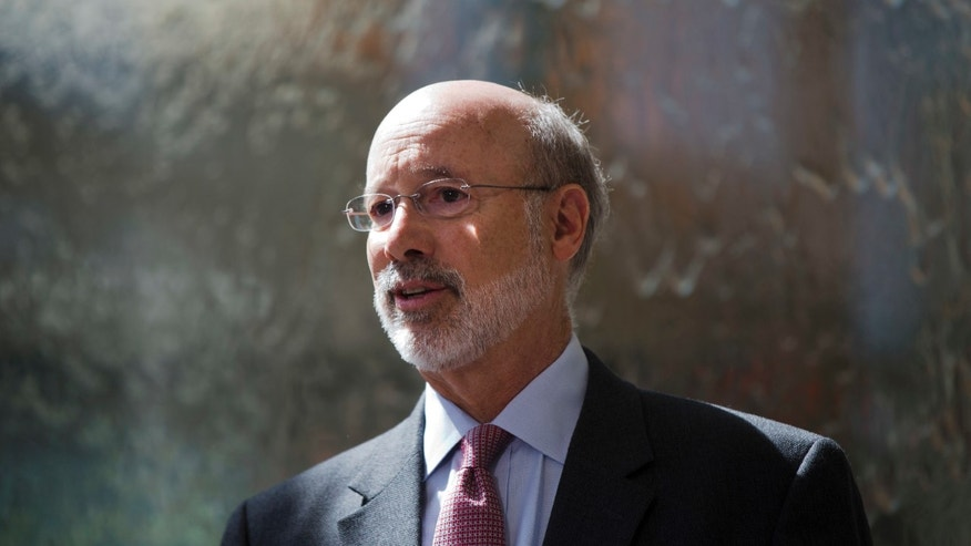 Pennsylvania Gov. Tom Wolf speaks during a news conference at the Temple University Lewis Katz School of Medicine in Philadelphia, Thursday, June 2, 2016.
