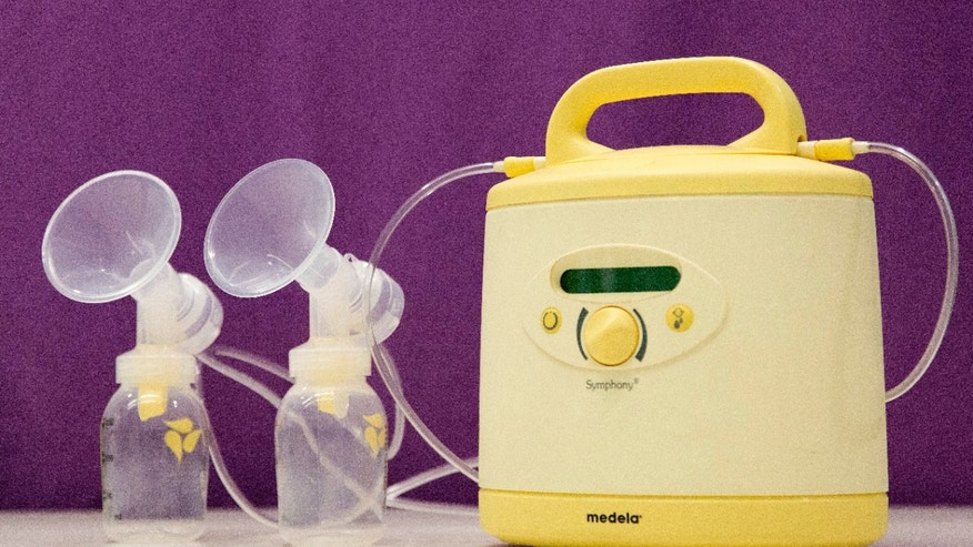 This This Tuesday, June 7, 2016, photo shows the Medela Symphony breast pump, in New York. A growing number of startups want to make the breast pump more mother-friendly, using soft silicone parts or keeping their noise level down to make it easier for them to work and pump simultaneously.