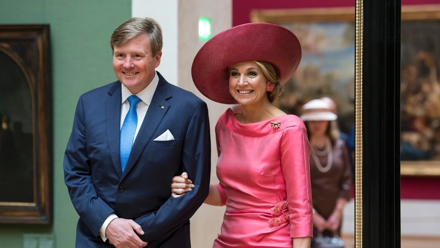 King Willem Alexander and Queen Maxima of the Netherlands.