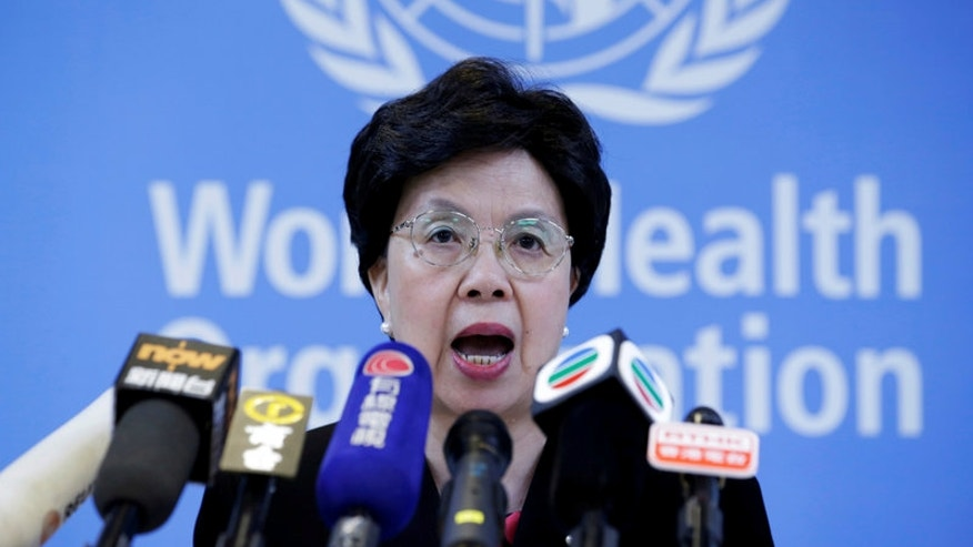 Director General of the WHO Margaret Chan attends a news conference in Beijing