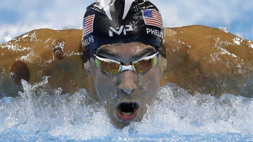 United States' Michael Phelps competes in a men's 200-meter butterfly semifinal during the swimming competitions at the 2016 Summer Olympics, Monday, Aug. 8, 2016, in Rio de Janeiro, Brazil.