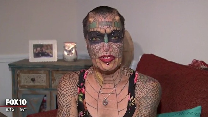 "Eva ""Tiamat"" Baphhomet Medusa has spent the last 20 years undergoing body modifications."