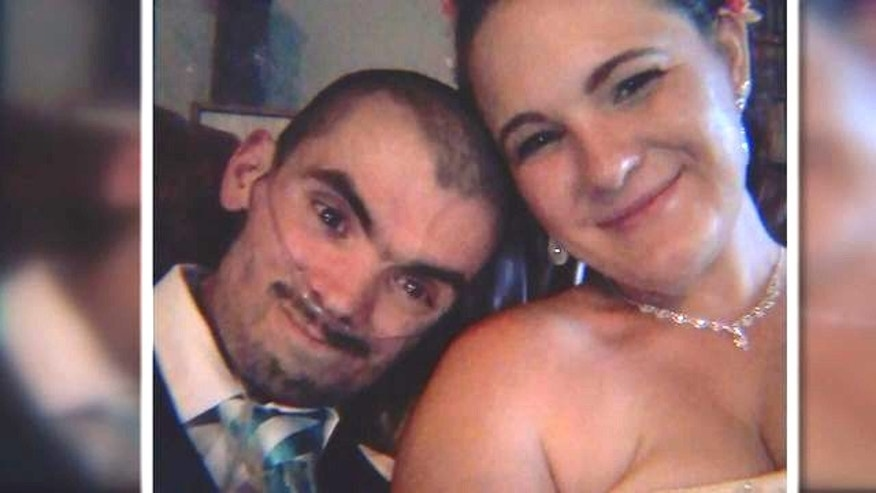 Christopher Ford married his wife Nicole after doctors gave him just weeks to live.