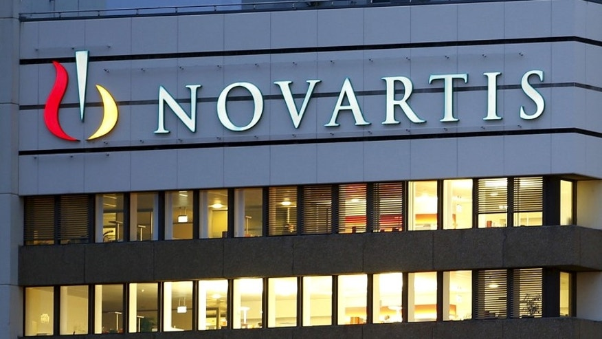 The logo of Swiss drugmaker Novartis is seen at its headquarters in Basel