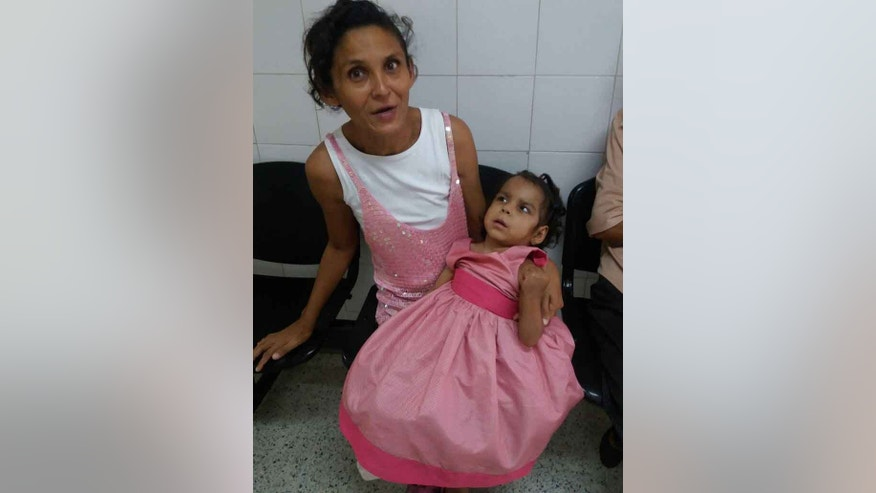 Maria del Carmen Chourio, 5, was released after three months at Chiquinquirá Hospital, weighing 17 pounds.