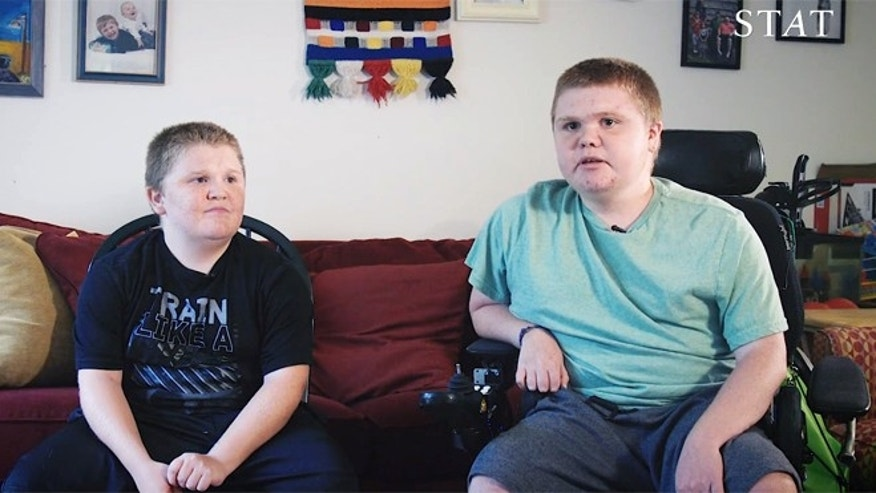 Max and Austin Leclaire have Duchenne muscular dystrophy, a rare degenerative disease that wastes their muscles.