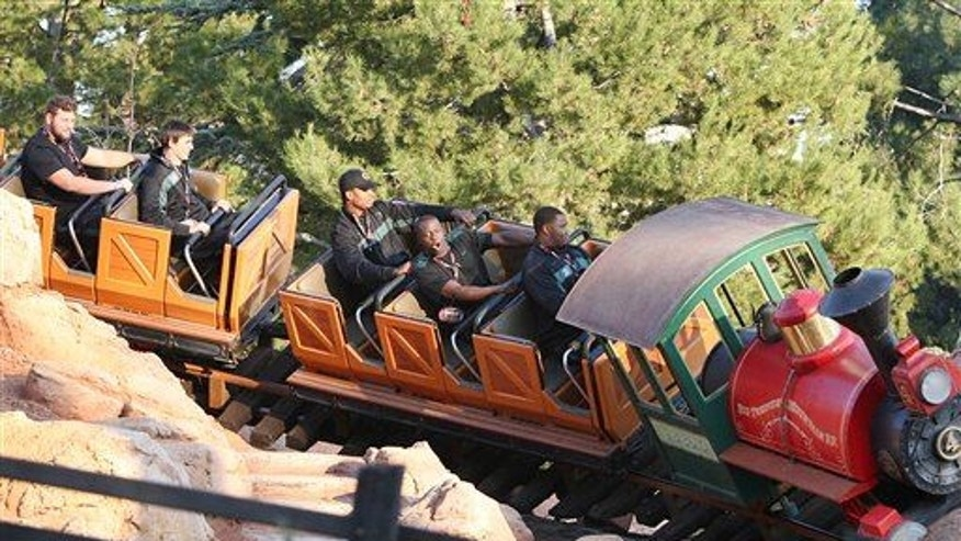 Riding Disney's Big Thunder Mountain Railroad (California's version shown here) could help pass kidney stones, scientists say.