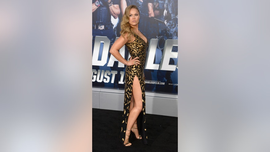 "Cast member Ronda Rousey attends the premiere of the film ""The Expendables 3"" in Los Angeles August 11, 2014."