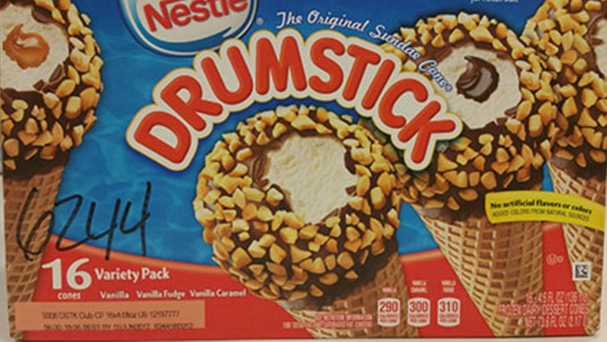 An image of one of the recalled Drumstick ice cream cone products from Nestle.