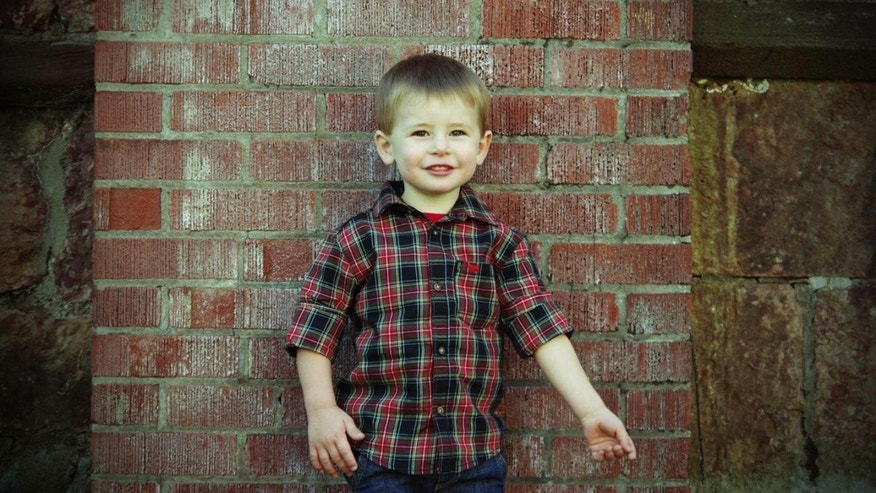 Tucker Roussin, 3, is the first successful survivor of fetal surgery for a life-threatening tumor connected to his heart. Fetal medicine experts at Children's Hospital of Philadelphia successfully removed this tumor. (Children's Hospital of Philadelphia)