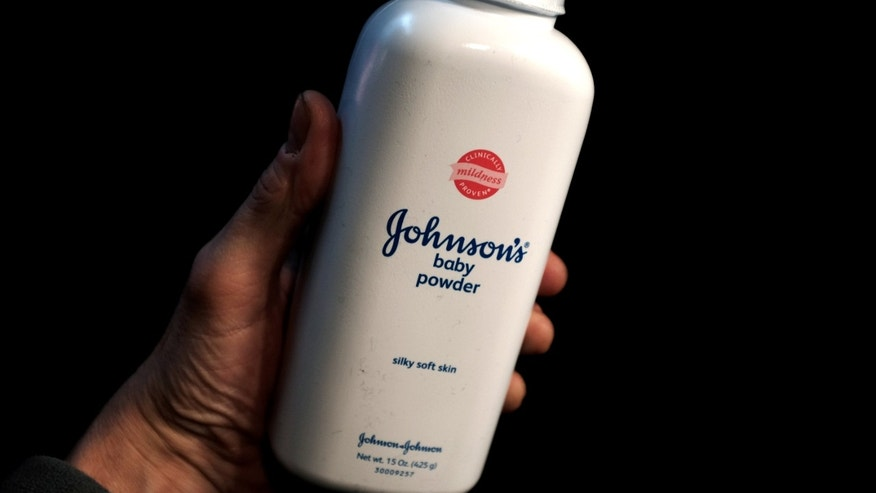 A bottle of Johnson and Johnson Baby Powder is seen in a photo illustration taken in New York, February 24, 2016.