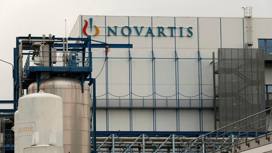 The logo of Swiss pharmaceutical company Novartis is seen at the company's plant in Hueninge, France January 27, 2016.