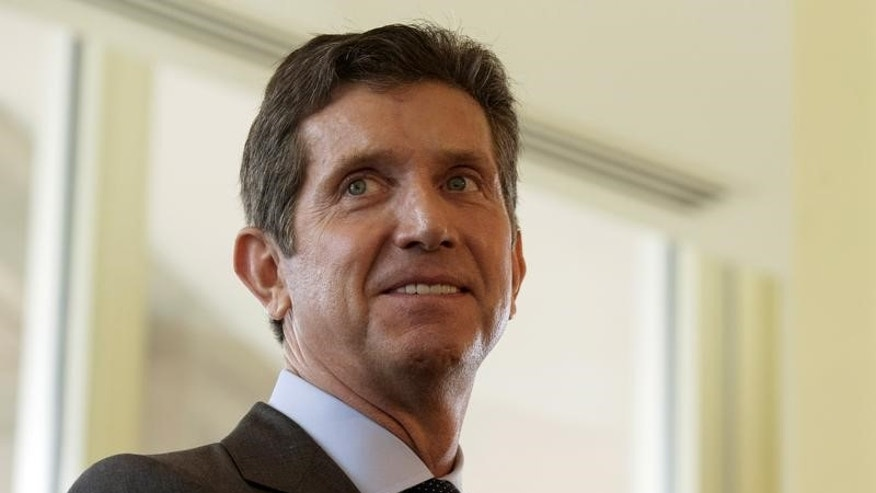 Alex Gorsky, CEO of Johnson & Johnson, speaks at the Boston College Chief Executives Club luncheon in Boston, Massachusetts