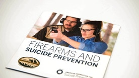 A brochure is on display that is part of an initiative involving the National Shooting Sports Foundation and the American Foundation to Prevent Suicide, Tuesday, Jan. 17, 2017, in Las Vegas. The brochures are supplied to gun dealers and gun ranges to help gun owners understand the warning signs of those at risk of suicide and to find ways to prevent suicide. It's a difficult topic to discuss and an even tougher one to fix, fraught with politics and societal stigmas: people who kill themselves with a gun. But now two unlikely allies, the gun industry and a leading suicide prevention group, are coming together to tackle it.  (AP Photo/Lisa Marie Pane)