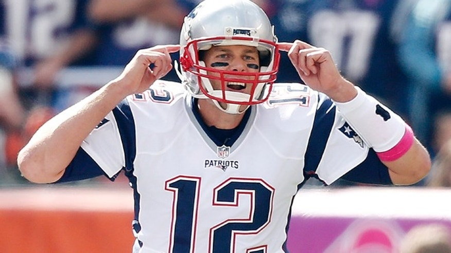 Oct. 9, 2016: In this file photo, New England Patriots' Tom Brady (12) gestures during an NFL football game against the Cleveland Browns, in CLeveland.