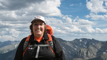 Nancy Dziedzic on the Moving Mountains for Multiple Myeloma Kilimanjaro team's Mount Bierstadt practice hike in July 2016.