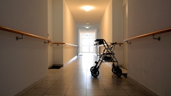 Corridor in a no longer exists nursing home in Magdeburg