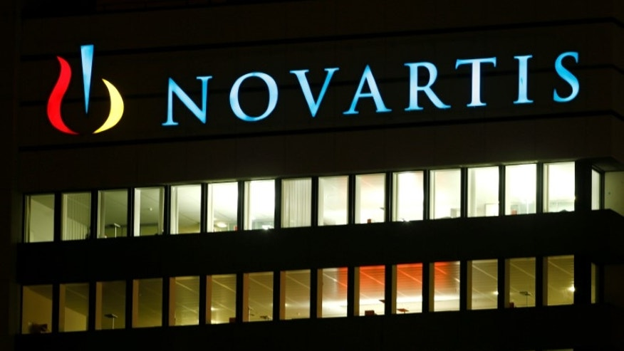 The logo of Swiss drugmaker Novartis AG is seen at its headquarters in Basel