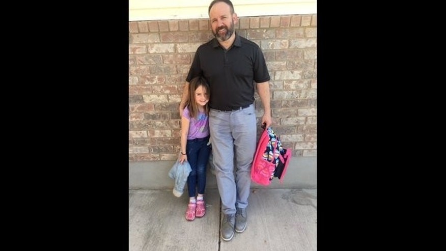 Dad's response to daughter's 'accident' at school goes viral