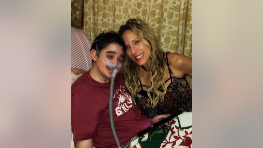 Nico, pictured with his mother Debbie, has been rejected by three transplant centers.