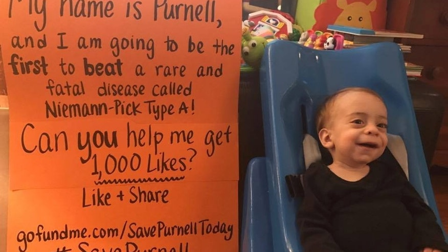 Purnell's parents are racing to raise money to go toward researching a gene therapy treatment.
