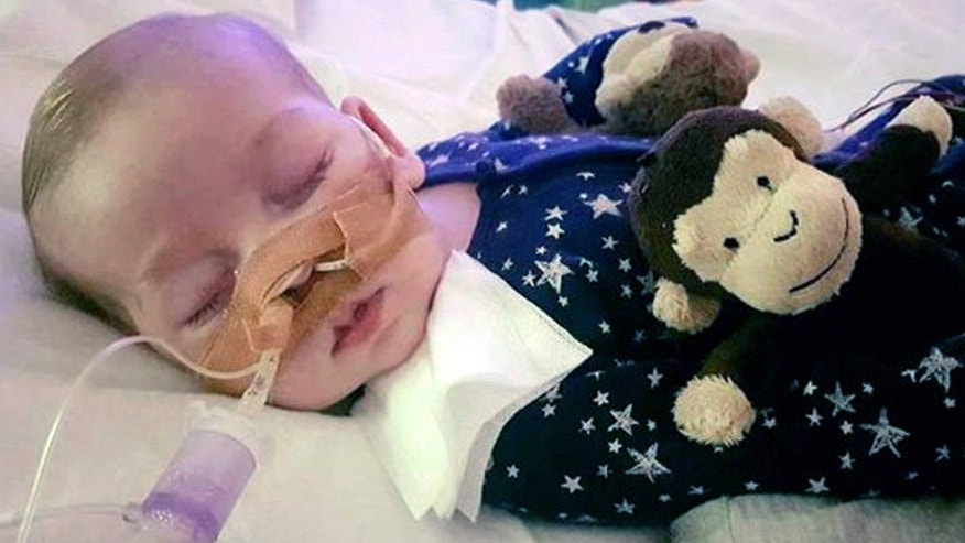 June 27: This is an undated hand out photo of Charlie Gard provided by his family
