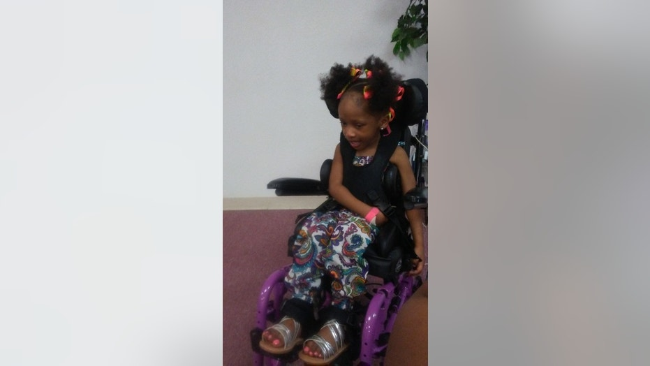 Navaeh Hall suffered severe brain damage during a routine trip to the dentist.