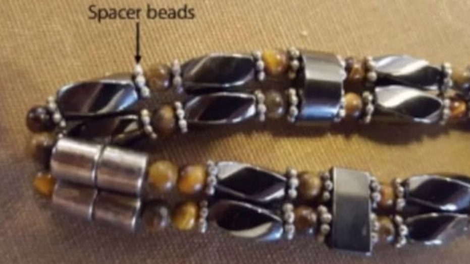 "The ""spacer beads"" in the baby's bracelet had extremely high levels of lead."