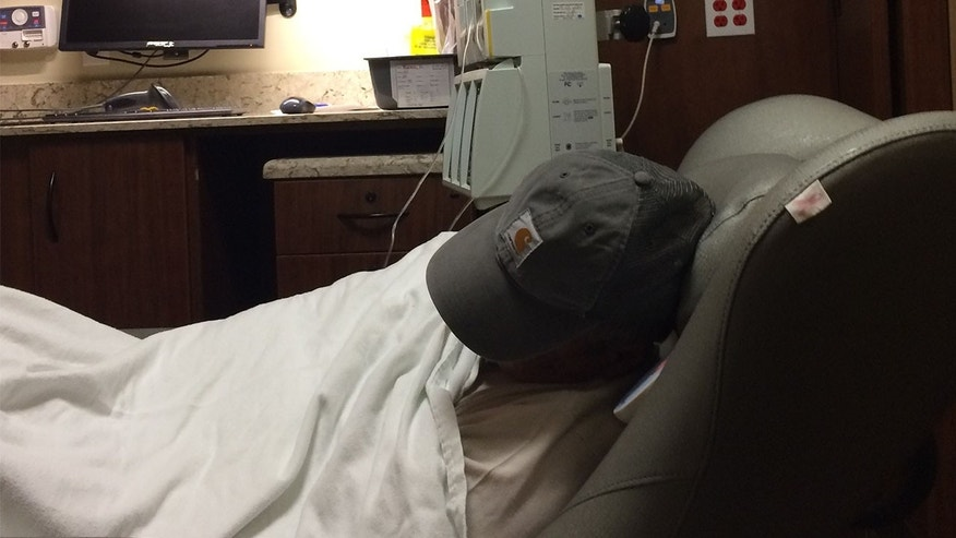 He travels to Tulsa every two weeks to receive chemotherapy treatment.