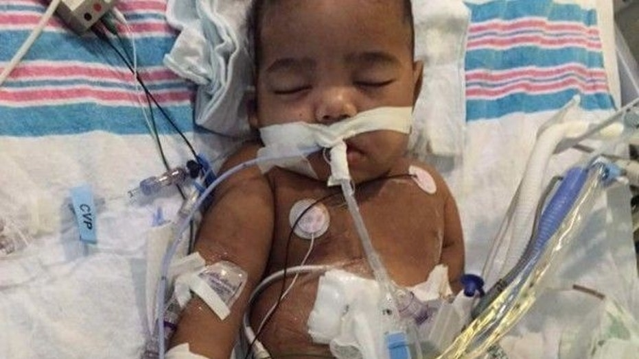 Anthony Dickerson Jr., who was set to receive his father's kidney, was rushed to a hospital Sunday morning after suffering an abdominal infection.