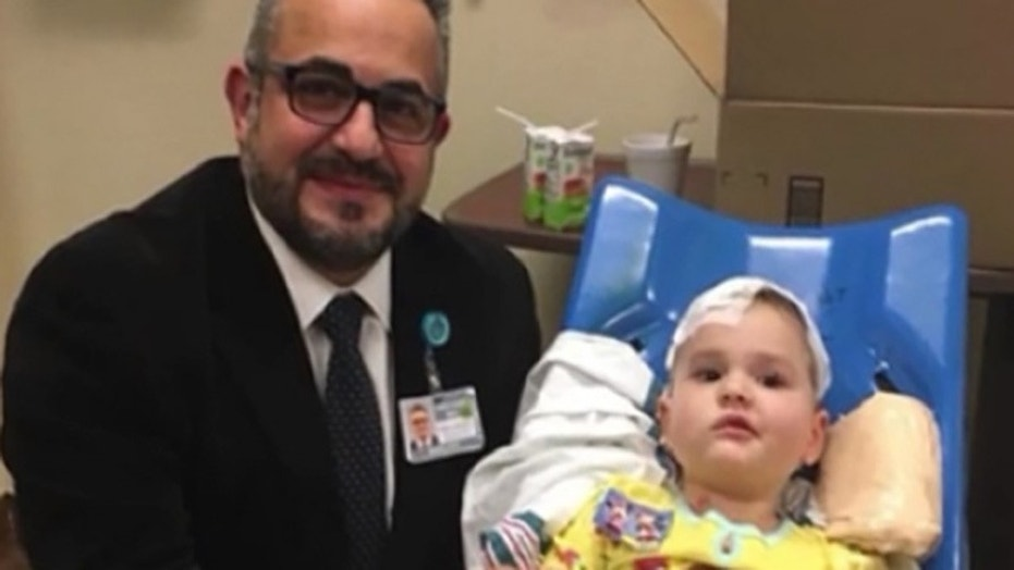 Lena, a 4-year-old with a brain tumor, received emergency surgery, performed by Dr. Samer K. Elbabaa, while on vacation in Florida, her parents, Matt and Erin Tietjen, told Fox 35.