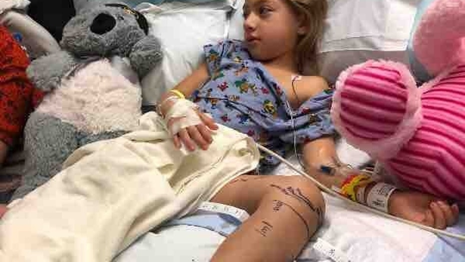 Emily Rose is doing well, but her parents say she is still in a lot of pain.
