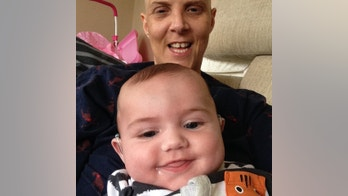 """Please note - sent under embargo - no use before 15.00BST April 26 2018.  Leanne Crawley with her son Louee. See SWNS story SWCANCER; A mum has told how she was left fighting for life when she got cancer -- from her baby son's hidden unborn twin. Leanne Crawley, 38, had no idea she had been pregnant with twins until she was rushed to hospital six weeks after baby Louee [CORR] was born. Doctors discovered he had been """"hiding"""" a second pregnancy which was then removed - but left behind a very rare fast growing cancer. The cells spread to her lungs forcing her to endure five months of super-strength chemo, 20 blood transfusions and an entire month in hospital. Mum-of-four Leanne, from Kent, who is now cancer free, said: """"As odd as that sounds, Louee's twin very nearly killed us both."""