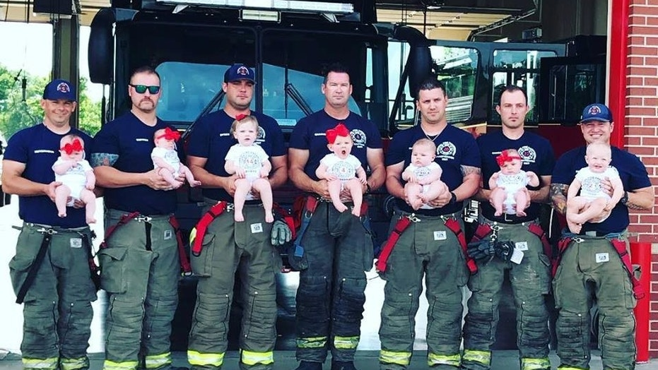 Seven of the 20 Glenpool firefighters became fathers within months of each other.