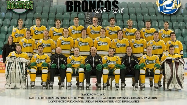 The 2017-2018 Humboldt Broncos Saskatchewan Junior Hockey League team is pictured in this undated handout photo.  Amanda Brochu/Handout via REUTERS  ATTENTION EDITORS - THIS IMAGE WAS PROVIDED BY A THIRD PARTY. - RC13F38556C0
