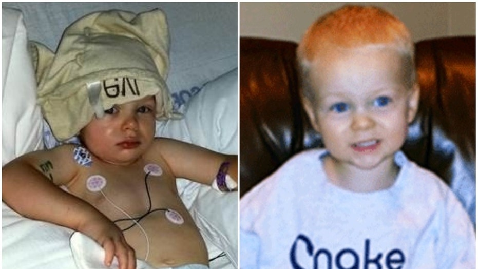 Levi Fisher, 2, was hospitalized for four days after being bit by a copperhead snake near his Atlanta-area home in Aug. 2014.